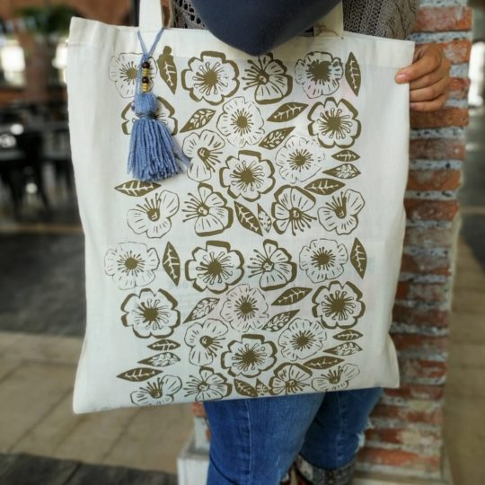 tote bag estampado flores